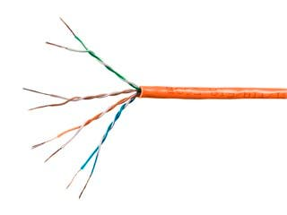 Product Image for SlimRun Cat6 Ethernet Bulk Cable - Stranded, 550Mhz, UTP, Pure Bare Copper Wire, 28AWG, 1000ft, Orange