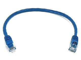 Product Image for Cat6 Ethernet Patch Cable - Snagless RJ45, Stranded, 550Mhz, UTP, Pure Bare Copper Wire, 24AWG, 1ft, Blue