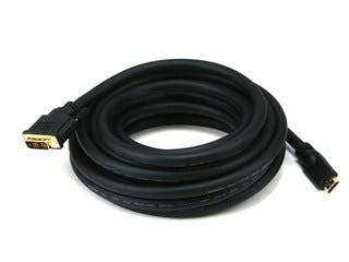 Product Image for 25ft 24AWG CL2 Standard HDMI to DVI Adapter Cable, Black