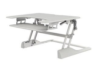 Monoprice Sit-Stand Height Adjustable Desk 36, White
