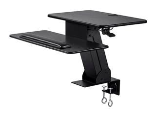 Product Image for Monoprice Sit-Stand Workstation Table or Desk Converter, with Edge Clamp Mount