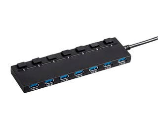 Product Image for Monoprice USB 3.0 7-port Switch Hub, with AC Adapter