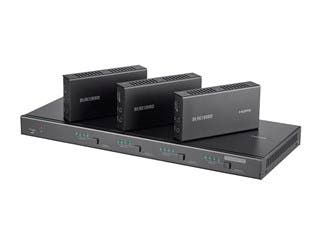 Product Image for Blackbird 4K 4x4 HDBaseT Matrix with 3 Receivers, 70m, IR, SPDIF, RCA, TCP/IP, RS232, EDID, HDCP 2.2