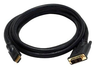 Product Image for 6ft 24AWG CL2 High Speed HDMI to DVI Adapter Cable with Net Jacket, Black