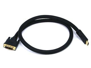 Product Image for 3ft 24AWG CL2 High Speed HDMI to DVI Adapter Cable with Net Jacket, Black
