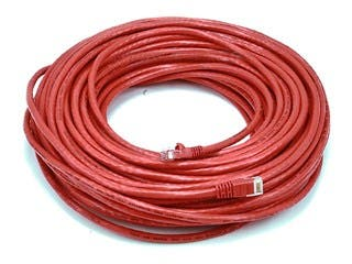 Product Image for Cat6 24AWG UTP Ethernet Network Patch Cable, 100ft Red