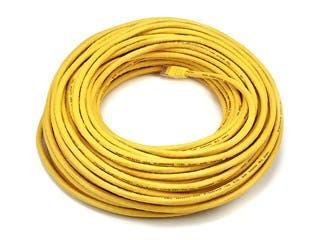 Product Image for Cat6 Ethernet Patch Cable - Snagless RJ45, Stranded, 550Mhz, UTP, Pure Bare Copper Wire, 24AWG, 100ft, Yellow