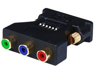 Product Image for Monoprice DVI-I Male to 3 RCA Component Adapter w/ DIP Switch for ATI Video Cards (Gold Plated)