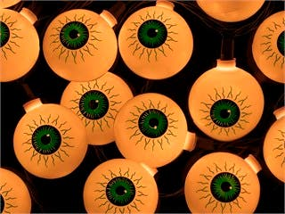 Product Image for 10 Count Eyeball Halloween String Light Green 11.5 ft