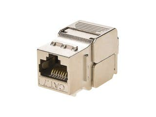 Product Image for Monoprice Entegrade Series Cat7 or Cat6A RJ-45 Shielded Toolless Keystone Jack, 10 pack