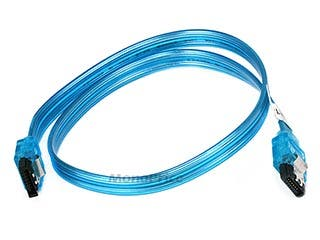 Product Image for 18inch SATA 6Gbps Cable w/Locking Latch - UV Blue