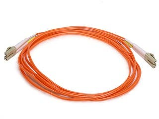 Product Image for Monoprice Fiber Optic Cable - LC to LC, OM1, 62.5/125 Type, Multi Mode, Duplex, Orange, 3m