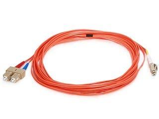 Product Image for Fiber Optic Cable, LC/SC, OM1, Multi Mode, Duplex - 5 meter (62.5/125 Type) - Orange