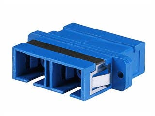 Product Image for Multimode SC/SC Duplex Fiber Optic Adapter, Plastic Body