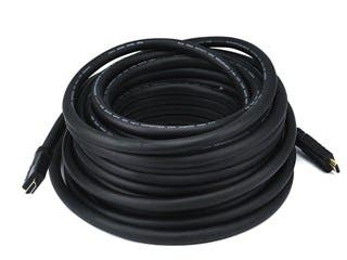 Product Image for Monoprice Commercial Silver Series Standard HDMI Cable - 1080i @ 60Hz, 4.95Gbps, 22AWG, CL2, 50ft, Black