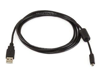 Product Image for Monoprice USB-A to Mini-B Cable - 8-Pin, for Pentax Panasonic Nikon Digital Camera, Black, 6ft
