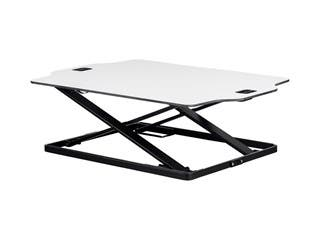 Product Image for Workstream by Monoprice Ultra-Slim Sit-Stand Table Desk Converter, White