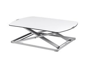 Workstream by Monoprice Ultra-Slim Height Adjustable Sit-Stand Table Desk Converter, Premium Aluminum