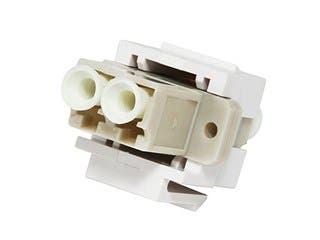 Product Image for Monoprice Keystone Jack - Modular LC (White)