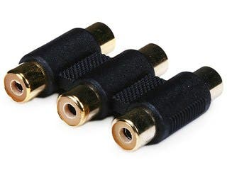 Product Image for 3-RCA Coupler for Component Video Cable Extension - Single Color