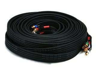 Product Image for Monoprice 75ft 18AWG CL2 Premium 5-RCA Component Video/Audio Coaxial Cable (RG-6/U) - Black