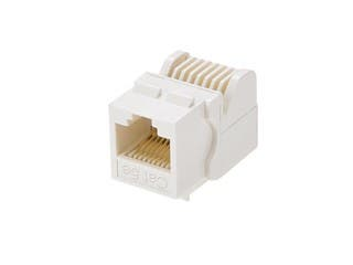 Product Image for Cat5E RJ-45 Toolless Keystone Jack in White