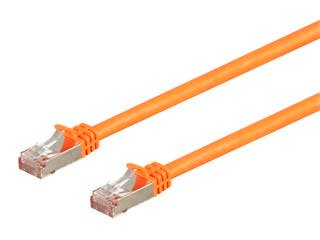 Monoprice Entegrade Series Cat7 26AWG Shielded (S/FTP) Ethernet Network Patch Cable, 25ft Orange