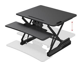 Product Image for Workstream by Monoprice Full-Size Sit-Stand Workstation Converter, Height Adjustable Desk 30in