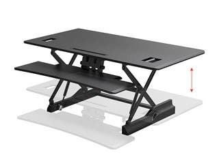 Product Image for Workstream by Monoprice Full-Size Sit-Stand Workstation Converter, Height Adjustable Desk 48in