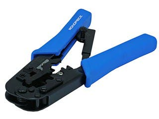 Product Image for Monoprice Multi-Modular Plug Crimps, Strips, and Cuts Tool with Ratchet