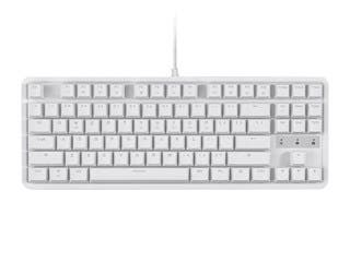 Product Image for Workstream by Monoprice Brown Switch Tenkeyless Mechanical Keyboard, White