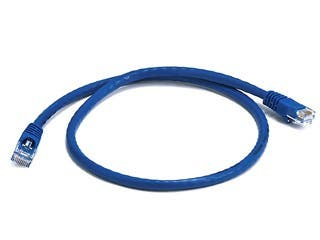 Product Image for Cat5e 24AWG UTP Ethernet Network Patch Cable, 2ft Blue