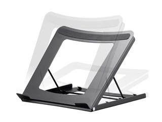 Product Image for Workstream by Monoprice Adjustable Folding Laptop Stand, Steel