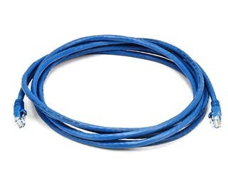Product Image for Cat5e 24AWG UTP Ethernet Network Patch Cable, 10ft Blue