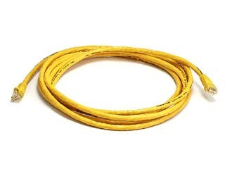Product Image for Cat5e 24AWG UTP Ethernet Network Patch Cable, 10ft Yellow