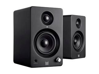 monolith by monoprice mm-3 powered multimedia speakers with bluetooth with  aptx (pair)