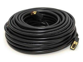 Product Image for 100ft Super VGA M/M CL2 Rated (For In-Wall Installation) Cable w/ Ferrites (Gold Plated)