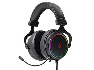 Dark Matter by Monoprice Supernova USB Gaming Headset - 53mm, Virtual 7.1 Surround, Detachable ANC Mic, PU Leather/Aluminum, RGB, PC Only