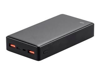 Monoprice Obsidian Speed Plus Ultra Compact USB Power Bank, Black, 20,000mAh, 3-Port Up to 18W PD (3A) Output for iPhone, Android, and Galaxy Devices
