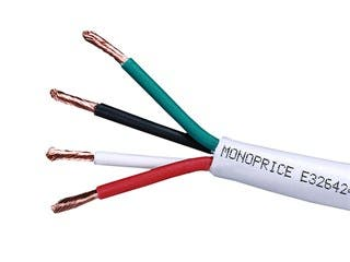 Product Image for Monoprice Access Series 12AWG CL2 Rated 4-Conductor Speaker Wire, 250ft