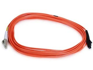 Product Image for Monoprice Fiber Optic Cable, MTRJ (Male)/LC, OM1, Multi Mode, Duplex - 5 meter (62.5/125 Type) - Orange