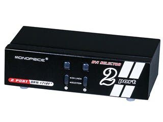 Product Image for Monoprice 2X1 Enhanced Powered DVI Switcher