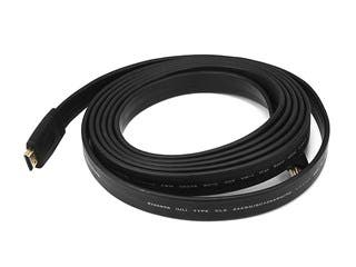 Product Image for Commercial Series Flat High Speed HDMI Cable - 4K @ 24Hz, 10.2Gbps, 24AWG, CL2, 10ft, Black