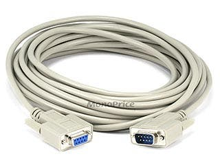Product Image for Monoprice 25ft DB 9 M/F Molded Cable