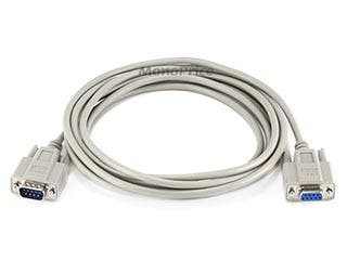 Product Image for Monoprice 10ft Null Modem DB9 M/F Molded Cable