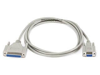 Product Image for 6ft Null Modem DB9F/DB25F Molded Cable