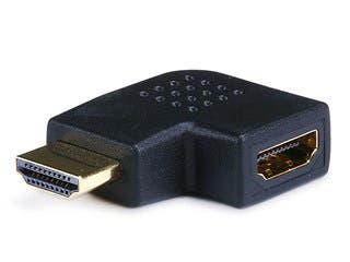 Product Image for HDMI Right Angle Port Saver Adapter (Male to Female), 90-Degree, Vertical Flat Left