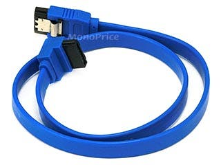 Product Image for 18inch SATA 6Gbps Cable w/Locking Latch (90 Degree to 180 Degree) - Blue