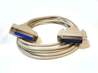 Product Image for 6ft Null Modem DB25 M/F Molded Cable