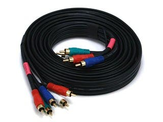 Product Image for 10ft 22AWG 5-RCA Component Video/Audio Coaxial Cable (RG-59/U) - Black